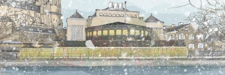 Boka årets julbord i vår inglasade veranda längs Fyrisån!